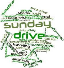 Word cloud for Sunday drive