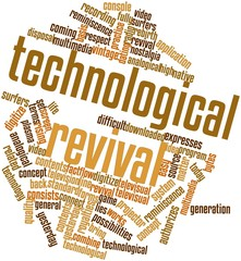 Word cloud for Technological revival
