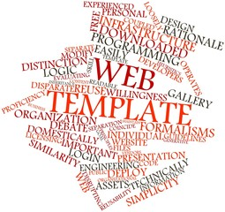 Word cloud for Web template