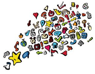 Applications cloud réseaux sociaux apps illustration coloré