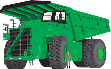 Green Dumper Truck