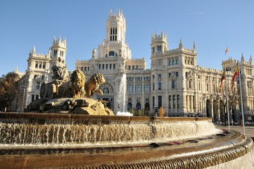 Acrylic Prints Historical buildings Plaza de Cibeles, Madrid