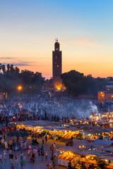 Marrakesch, Djemaa el Fna am Abend, Marokko