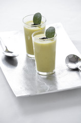 A green vegetable (asparagus ) cream