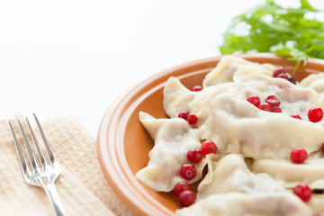 dumplings with sweet and sour berries