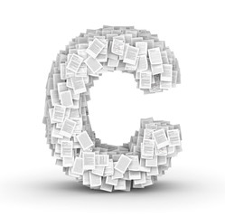 Letter C, page documents font