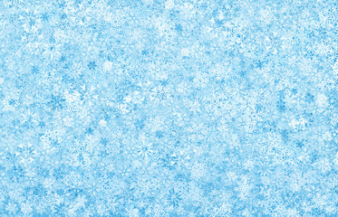Background , frosty snowflakes