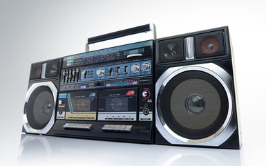 Old cassette portable boombox.