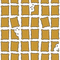kolorowe herbatniki na białym tle powtarzalny deseń