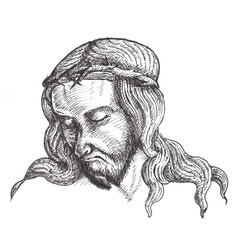 Jesus Christ ink drawings