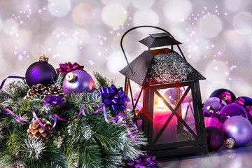 Weihnacht Grußkarte mit Glitzer Sterne