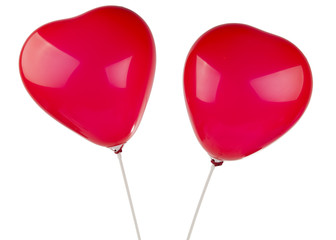 heart balloons isolated