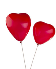 heart balloons isolated