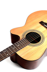 Guitar acoustic closup isolated