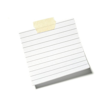 Petit morceau de papier tenu par de l'adhésif