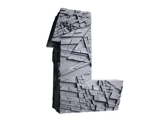 Stone Letter L in 3D Wall mural
