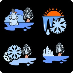 Seasons and weather - vector illustration.