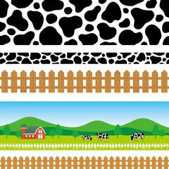 牧場 広告 背景