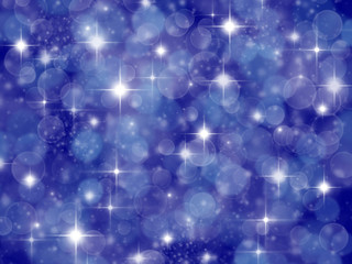 Dark blue background with boke effect and stars