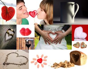 Herz-Collage