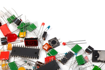 Electronics components background