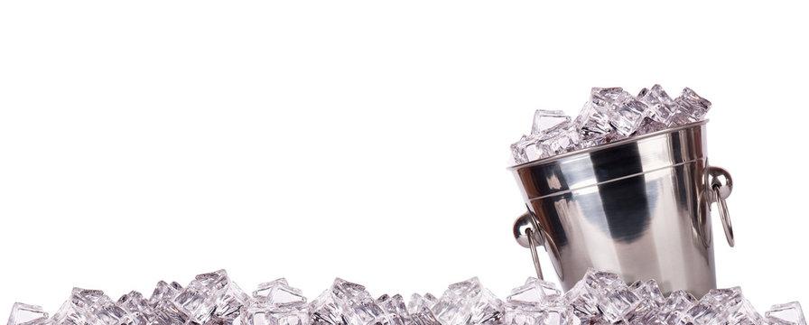 ice bucket isolated