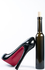 high heel shoe with bottle