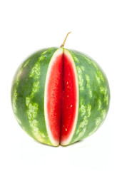 Single notched vertical striped watermelon