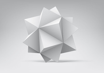 Polyhedron with triangular faces