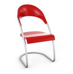 3D Stuhl vor weissem Hintergrund - Rot