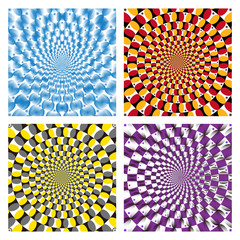 Wall Murals Psychedelic Vector Optical illusion Spin Cycle set