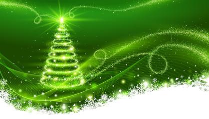 Wall Mural - Magic Christmas tree. Christmas background