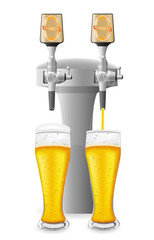 beer equipment vector illustration