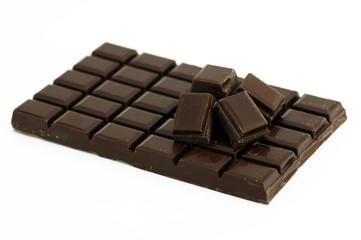 tablette de chocolat et morceaux 1