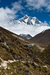 Himalaya landscape: Lhotse and Lhotse shar peaks