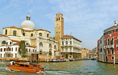 Grand canal in the Venice.