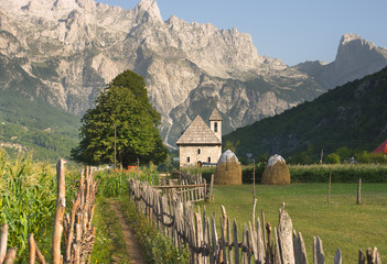 Printed roller blinds Eastern Europe Theth Valley In Albanian Alps