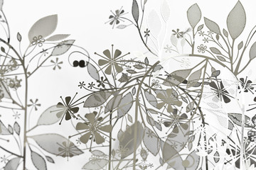 Abstract Floral Background wit Leaves