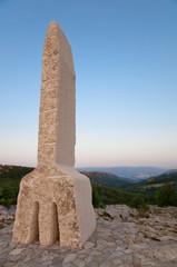 Baska Valley and Glagolitic alphabet A letter at Krk - Croatia