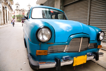 Printed kitchen splashbacks Cars from Cuba Old car, Havana, Cuba