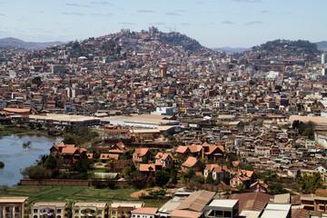 Vue de la ville d'Antananarivo à Madagascar