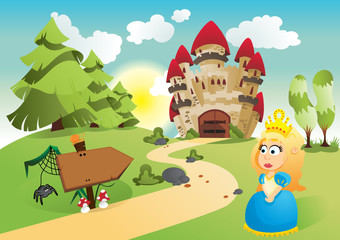 Garden Poster Castle The princess and her kingdom