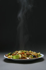 beef with vegetables and bamboo shoots