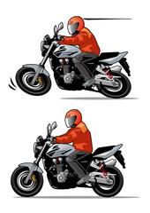 Keuken foto achterwand Motorfiets 走行するオートバイ