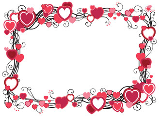 Vector valentines frame with place for text