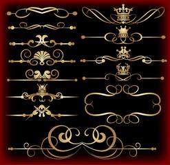 Vector set. Vintage Elements for your design. Calligraphy.