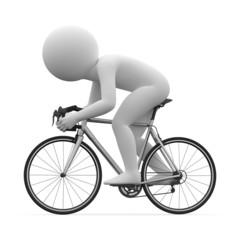 3d human - cycling