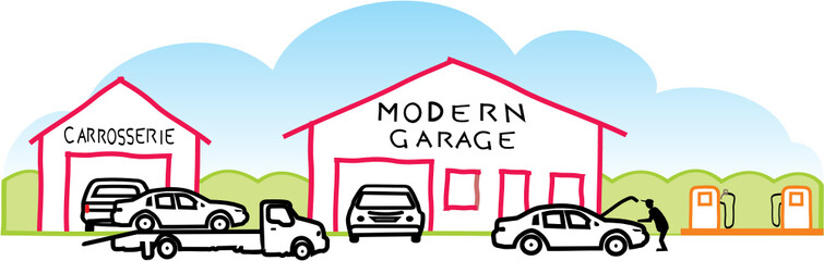 Wall Mural - GARAGE MODERNE