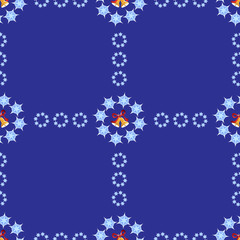 Christmas background with bells and snowflakes