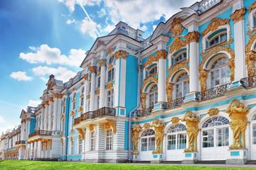 Katherine's Palace hall in Tsarskoe Selo (Pushkin). Wall mural
